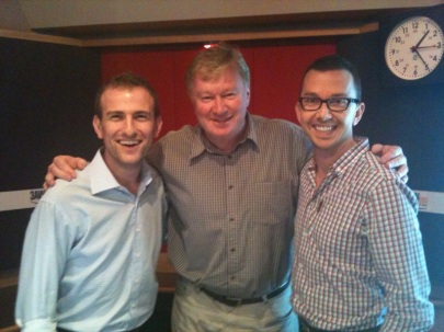 With Denis Walter on 3AW