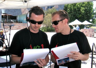 Serious at an Outside Broadcast